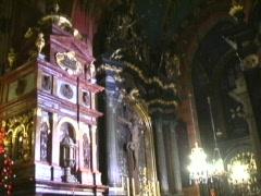 Inside St Marys Church Krakow 2 Stock Footage