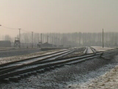 Auschwitz Railroad Tracks 2 Stock Footage