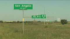 San angelo city limit sign 2 - stock footage