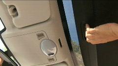 Smart car sunroof Stock Footage