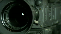 Zooming Video Camera Lens Stock Footage
