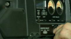 Adjusting Sound on Camcorder Stock Footage