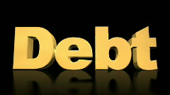 Debt Explode on Black Stock Footage
