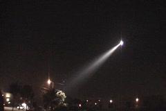 NightSun0026 Nightsun over LAPD Crime Scene Stock Footage
