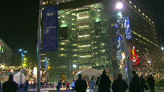 Detroit's Campus Martius Park during Christmas Holidays Stock Footage