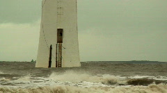 Lighthouse on a stormy day 5 slow motion Stock Footage
