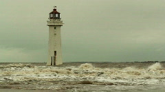 Lighthouse on a stormy day 6 slow motion Stock Footage