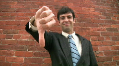Thumbs up, then down. Stock Footage