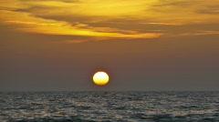 Lake Michigan Sunset time-lapse Stock Footage
