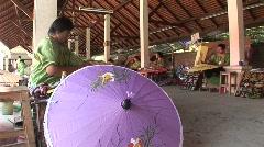 Umbrella making Stock Footage