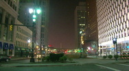 Stock Video Footage of Downtown Detroit During The Holidays