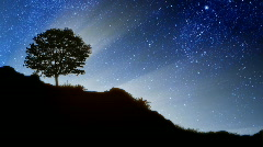 Stars Behind Hill Stock Footage
