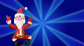 Santa Claus dance on blue Footage