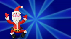 Santa Claus dance on blue Stock Footage