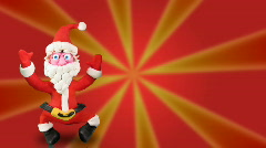 Santa Claus dance on red Stock Footage