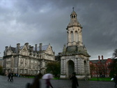 Trinity College, Dublin, Ireland, time lapse Stock Footage