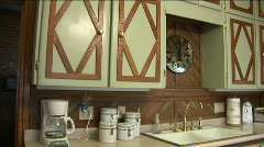 Antique kitchen 2 Stock Footage
