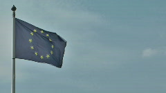EU flag waving in the wind Stock Footage