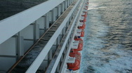 Stock Video Footage of Cruise ship balcony lifeboat ocean shadow P HD 4311