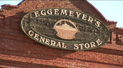 Antique general store sign Stock Footage