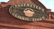 Stock Video Footage of antique general store sign
