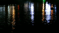 Water reflexions of city lights Stock Footage