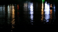 Stock Video Footage of Water reflexions of city lights