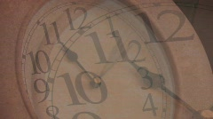 DRUNK TIME LAPSE CLOCK DOUBLE VISION Stock Footage