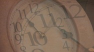 Stock Video Footage of DRUNK TIME LAPSE CLOCK DOUBLE VISION