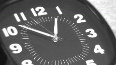 TIME LAPSE CLOCK ZOOM BLUR Stock Footage