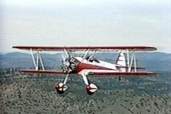 Bi-Plane Flying Stock Footage
