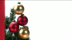 Christmas Ball Ornaments Stock Footage