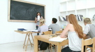 Teenagers studying in the high school Stock Footage