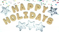 Happy Holiday Cookie Snow Stock Footage