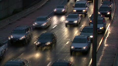 Timelapse Traffic at Dusk 05 - stock footage