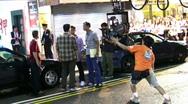 Movie shooting in Hong Kong Stock Footage