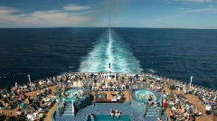 Cruise ship pools fast P HD 4438 - stock footage