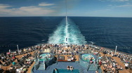 Stock Video Footage of Cruise ship pools fast P HD 4438