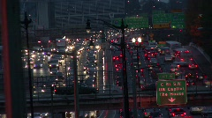 Timelapse Traffic at Dusk 13 - stock footage