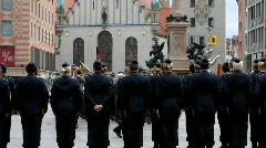 German soldier matching for ceremony Stock Footage