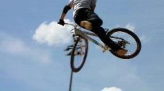 Slow-Motion BMX bike extreme sport - stock footage