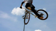 Stock Video Footage of Slow-Motion BMX bike extreme sport