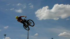 Slow-Motion BMX bike extreme sport Stock Footage