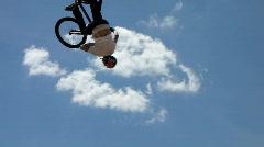 Slow-Motion BMX bike extreme sport Stock Footage