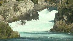 Rapids meet river Stock Footage