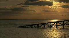 CANVEY ISLAND SUNSET Stock Footage