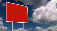 Blank Red Sign 1249 Stock Footage
