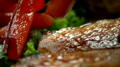 Grilled Pork Chops 454 - stock footage