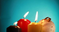 Suppression of Christmas candles. Stock Footage