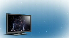 New Widescreen Television 1252 Stock Footage
